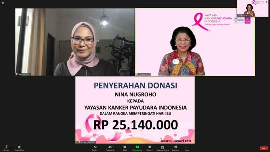 Donasi Bantuan Dana dari Nina Nugroho untuk YKPI